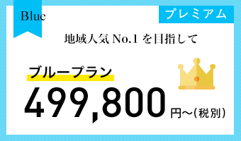 ブループラン 499,800円〜(税込)