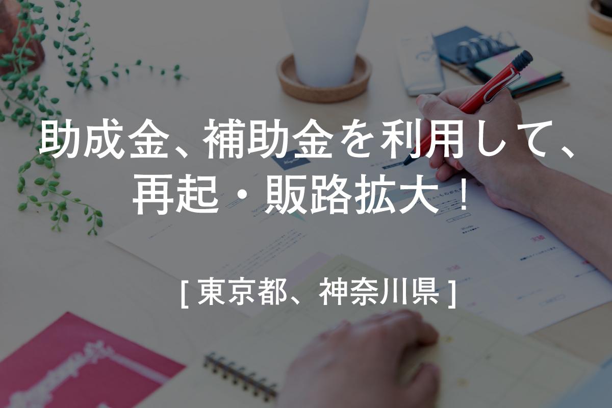[東京都、神奈川県] 助成金・補助金を利用して、再起・販路拡大!(新型コロナ経済対策)